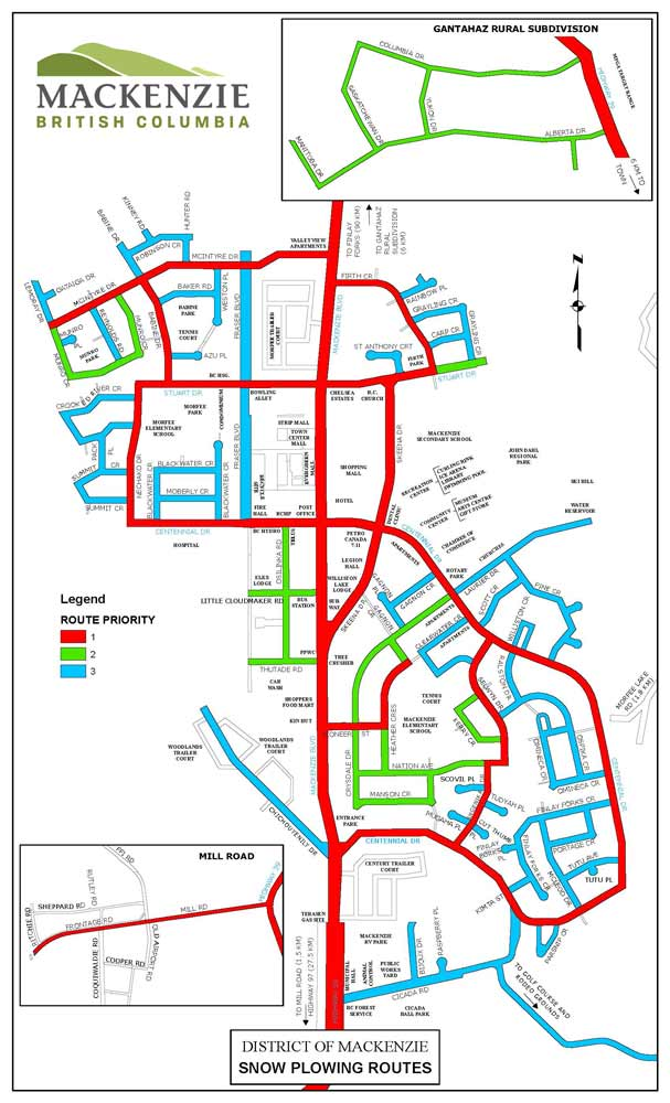 Road Plowing routes