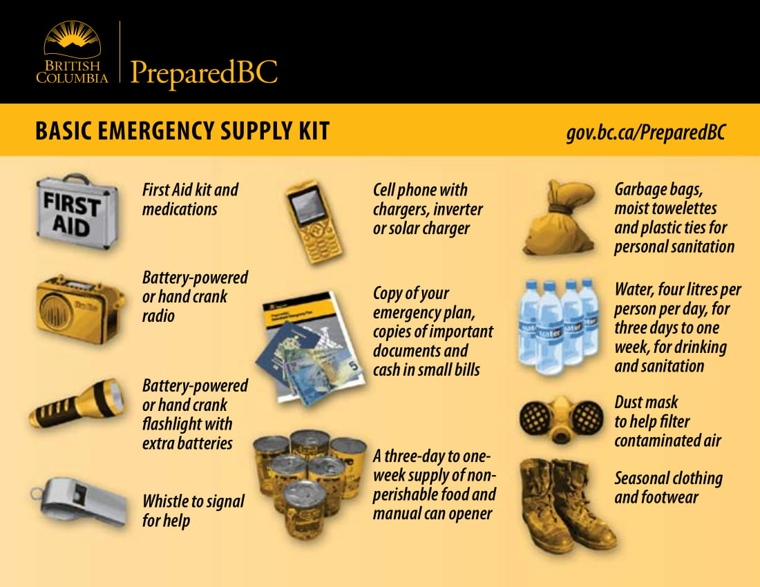 PreparedBC Emergency Supply Kit