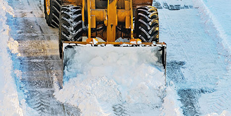 snow removal with loader