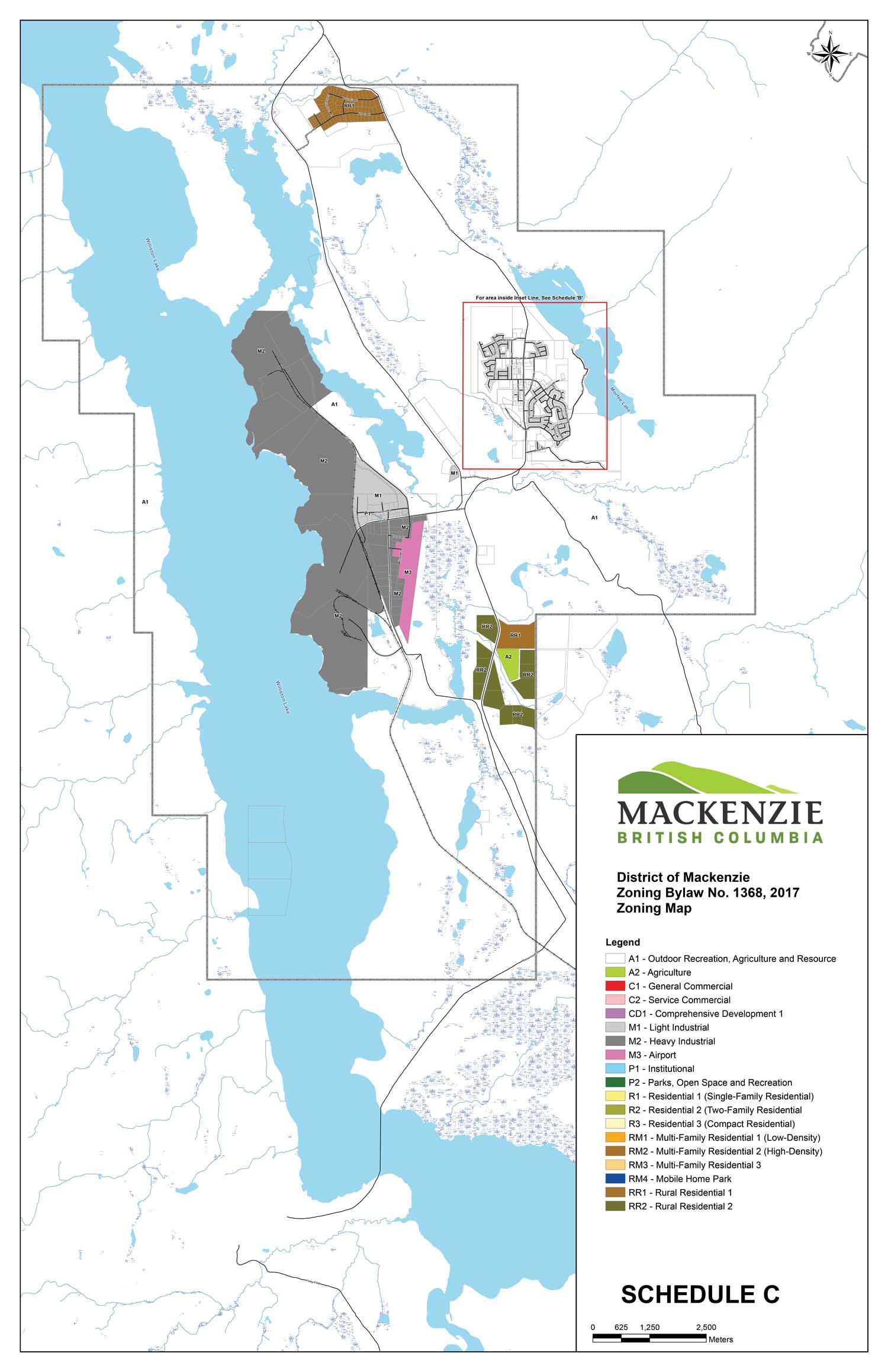 zoning map - regional