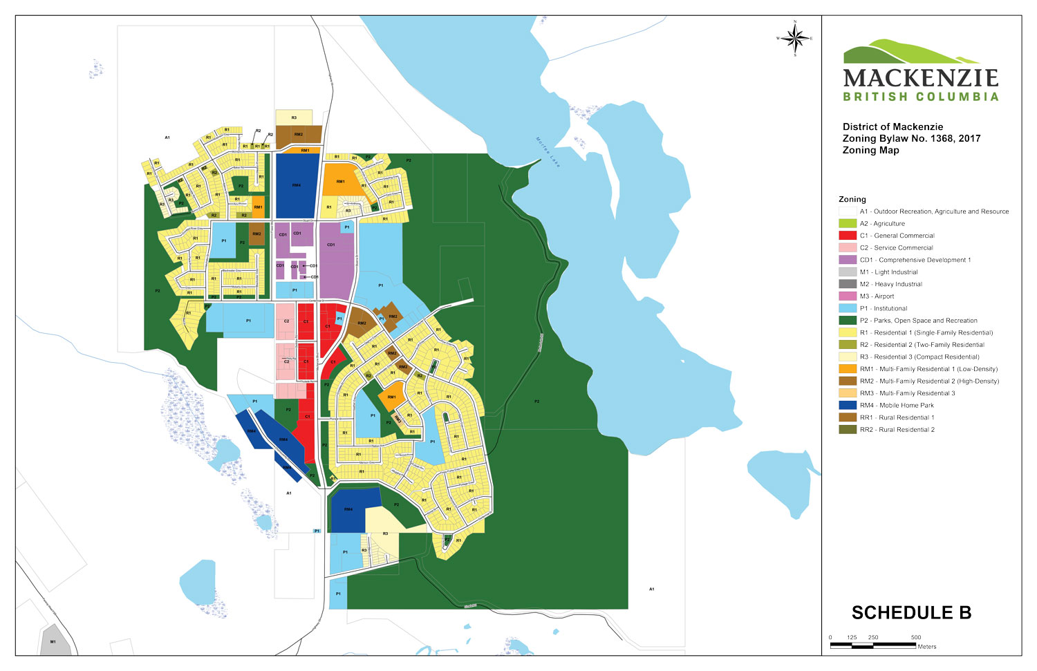 zoning map - townsite
