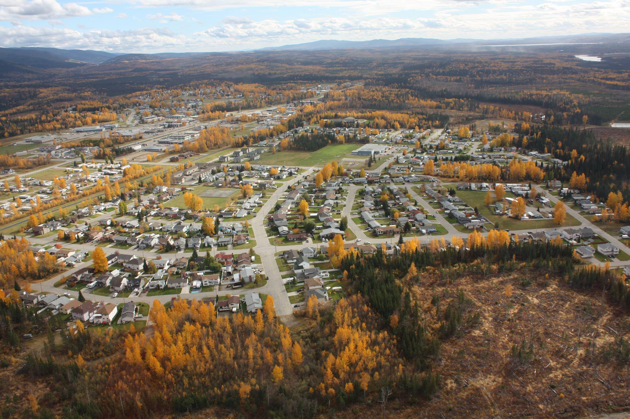 fall aerial townsite