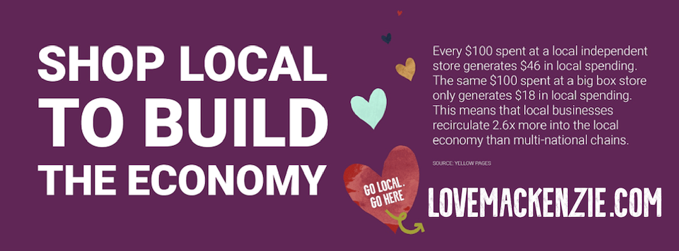 shop local to build the economy