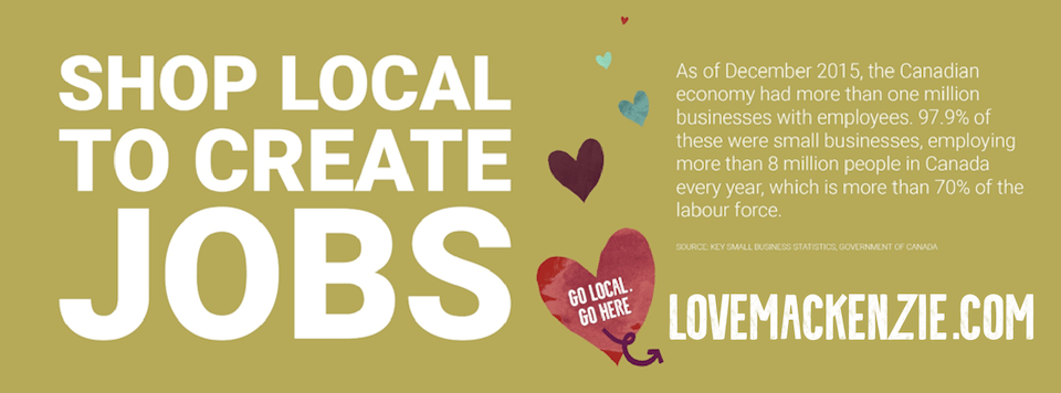 shop local to create jobs