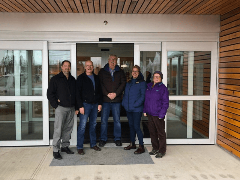 Rec Centre Doors Official Opening