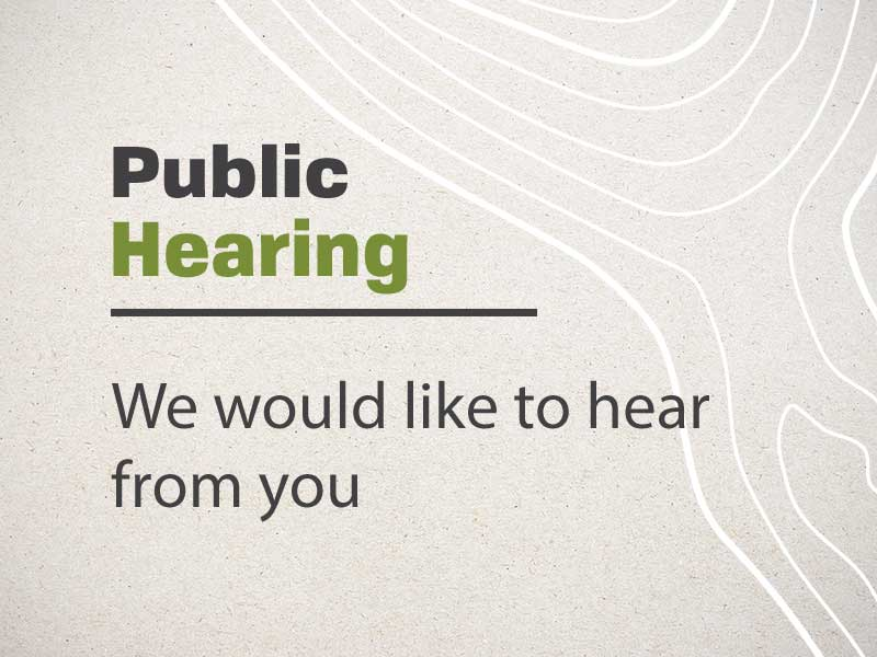 public hearing announcement