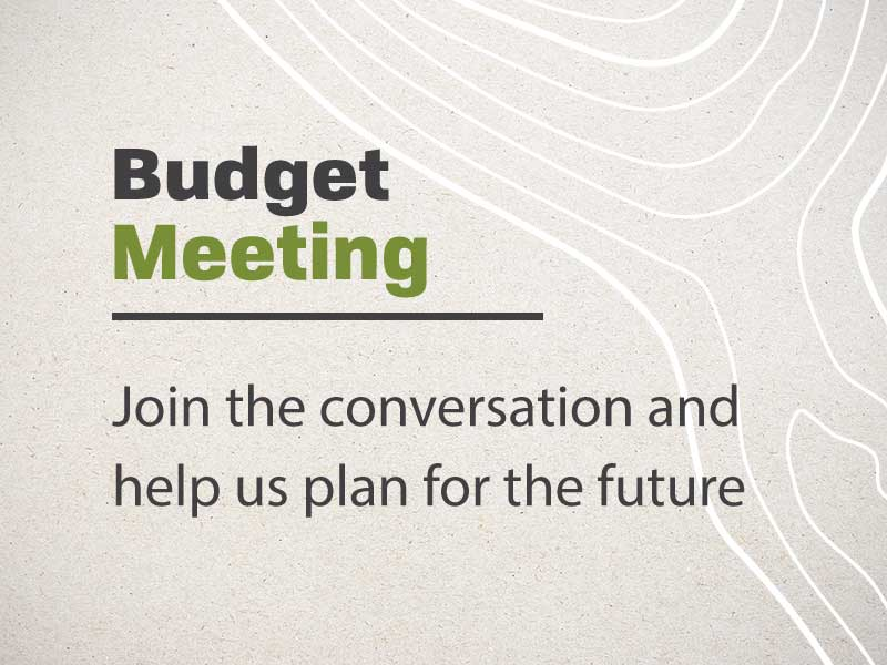 budget meeting announcement