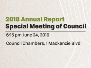 2018 Annual Report - Special Meeting @ Council Chambers