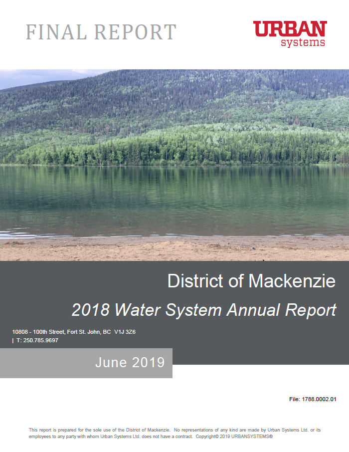 2018 Water System Annual Report