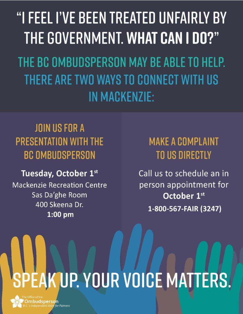 BC Ombudsperson poster