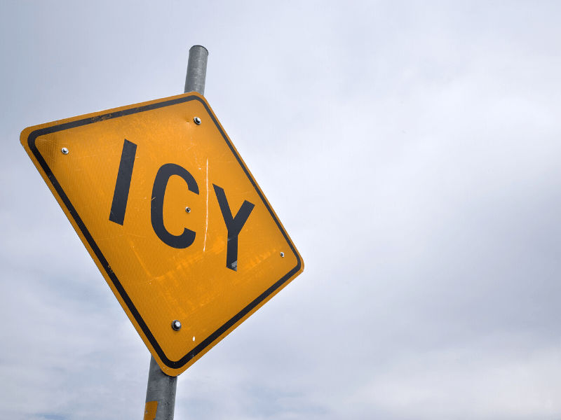 icy hazard sign