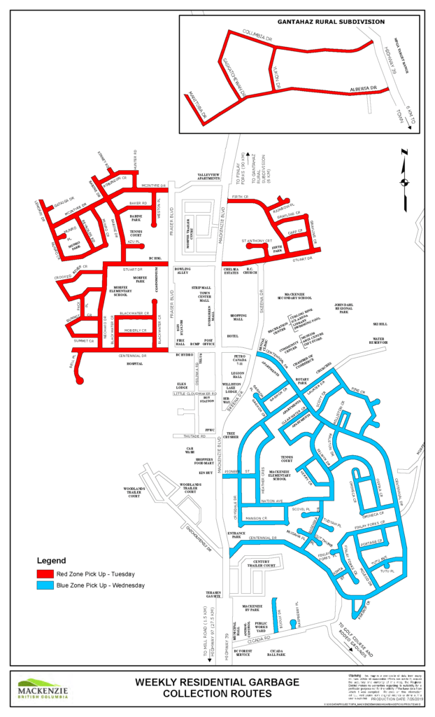 residential garbage collection route