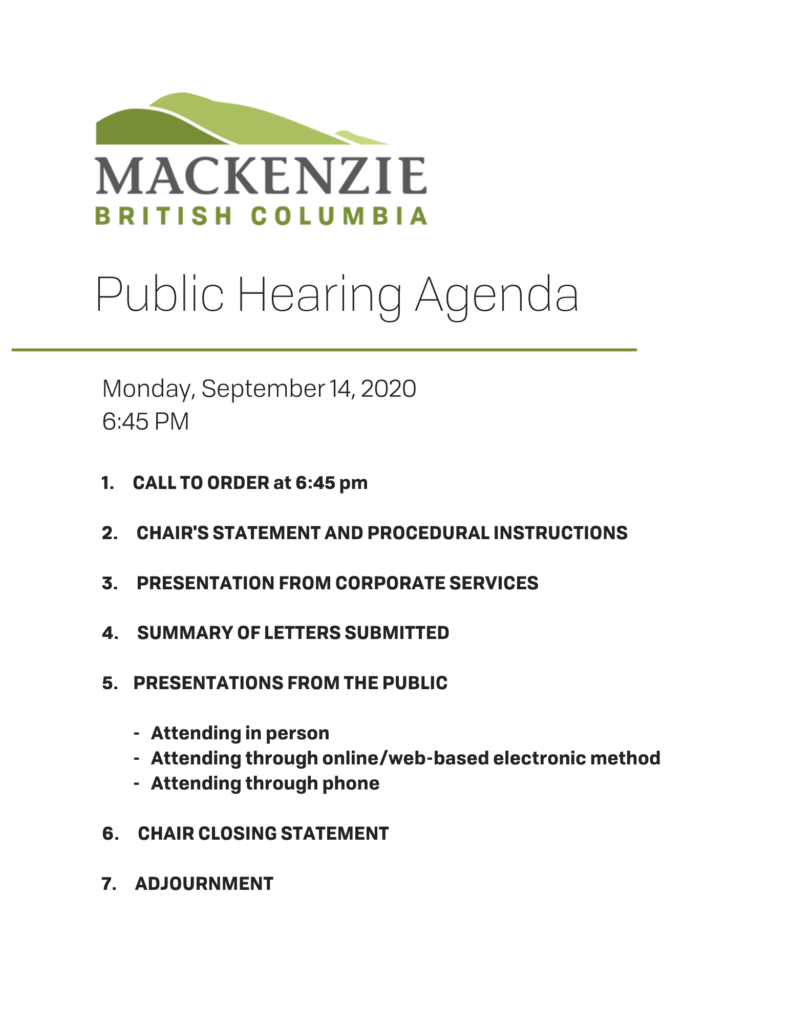 Public Hearing - Zoning Amendment Bylaw #1445 (Fences) @ Council Chambers