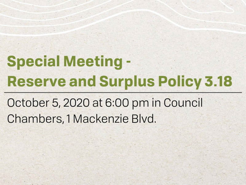 Reserve and Surplus Meeting