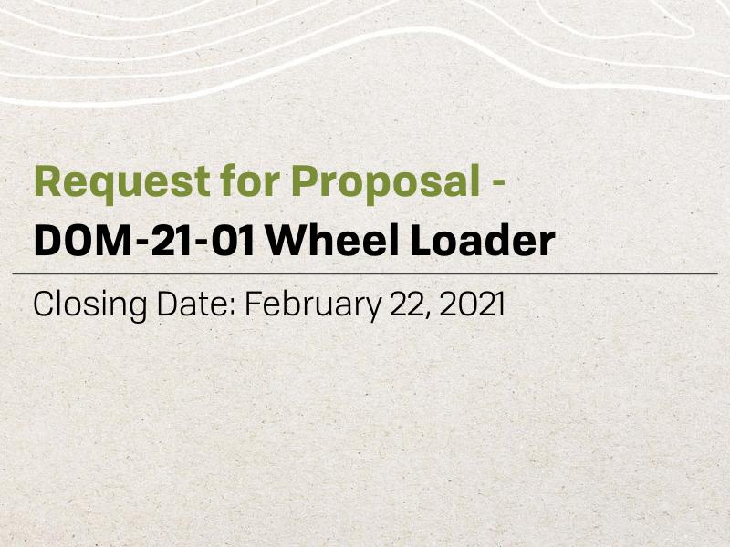 RFP - Wheel Loader