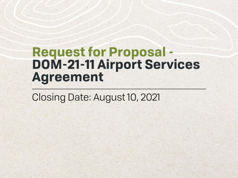 RFP - Airport Service Agreement
