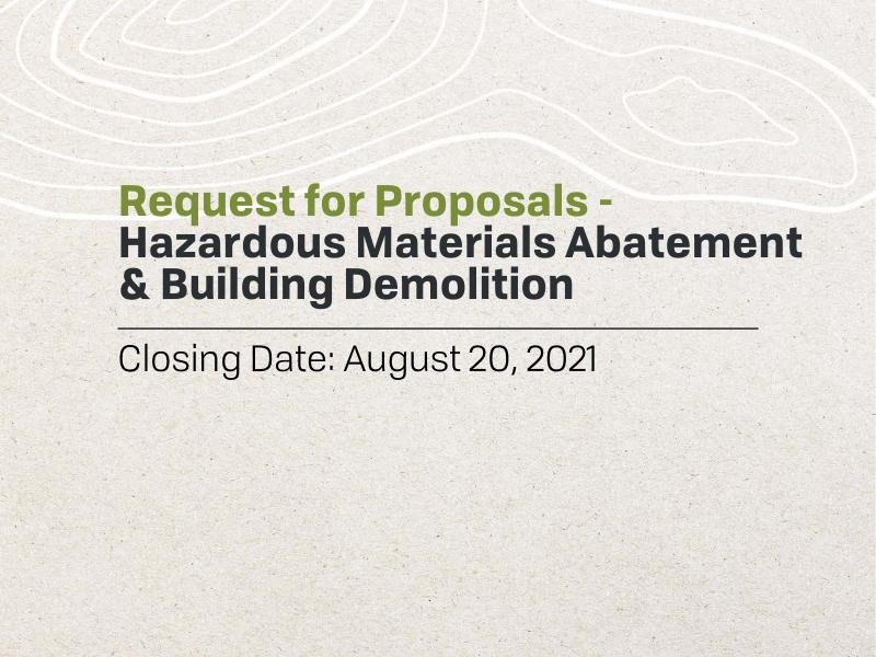 RFP - Hazardous Materials Abatement & Building Demolition